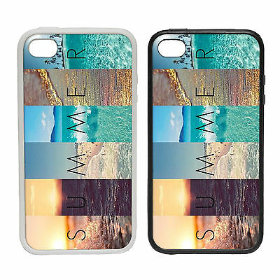 SUMMER SCENES RUBBER AND PLASTIC PHONE COVER CASE