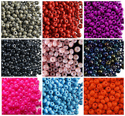 CHOOSE COLOR 20g 40 5-1mm Seed Beads Rocailles Preciosa Ornela Czech Glass