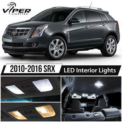White LED Interior Lights Package Kit for 2010-2016 Cadillac SRX