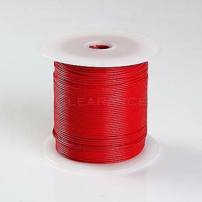 500FT RED HIGH PERFORMANCE PRIMARY WIRE 22 GAUGE AWG WITH SPOOL MADE IN USA