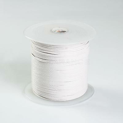 500FT WHITE HIGH PERFORMANCE PRIMARY WIRE 22 GAUGE AWG WITH SPOOL MADE IN USA