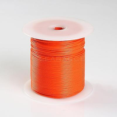 500FT ORANGE HIGH PERFORMANCE PRIMARY WIRE 22 GAUGE AWG WITH SPOOL MADE IN USA