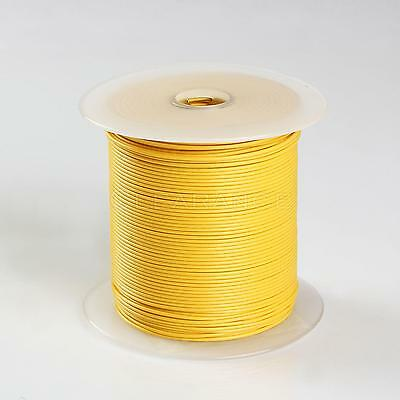 500FT YELLOW HIGH PERFORMANCE PRIMARY WIRE 22 GAUGE AWG MADE IN USA