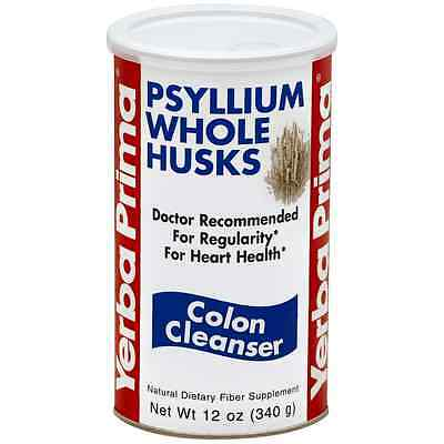 Yerba Prima Psyllium Whole Husks Colon Cleanser 12 oz