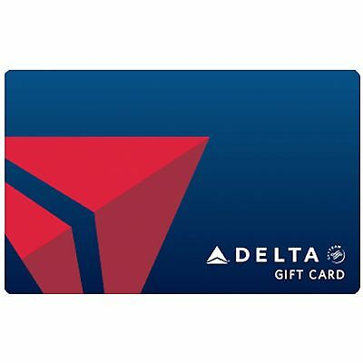 Delta Air Lines Gift Card 50 100 or 250 - Email delivery
