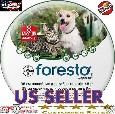 Bayer Seresto Foresto Flea - Tick Collar for Small Dogs and Cats under 18lbs