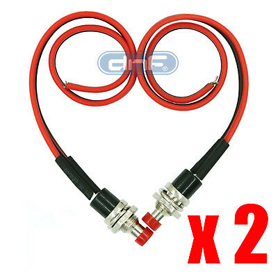 1 PACK PRE-WIRED RED MOMENTARY PUSH BUTTON 12V SWITCH SPST -SAME DAY SHIPPING