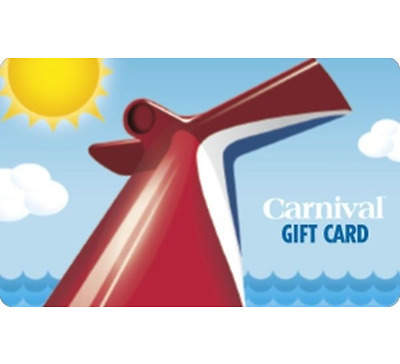 100 Carnival Cruise Line Gift Card - Email delivery