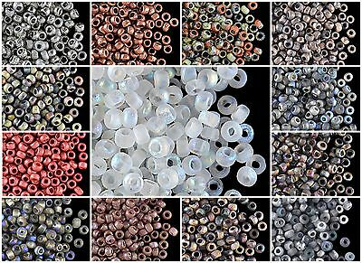 CHOOSE COLOR 10gr 80 cca 350pcs Etched Seed Beads Czech Pressed Glass