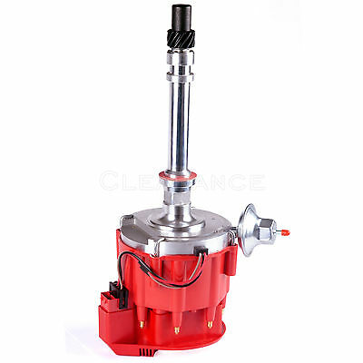 SBC BBC Chevy 305 350 454 V8s HEI Distributor with red Cap 65k 65000 Volt
