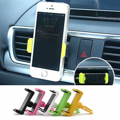 Universal Car Air Vent Stand Mount Cradle Holder For Cell Phone SmartPhone Black