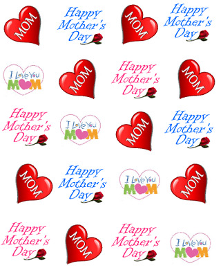 Happy Mothers Day  Mom Waterslide Water Transfer DecalsNail art