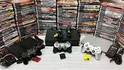 Playstation 2 PS2 Console System with games Fat original Slim Black Silver