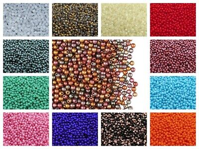 CHOOSE COLOR 100pcs 3mm Round Beads Czech Pressed Glass