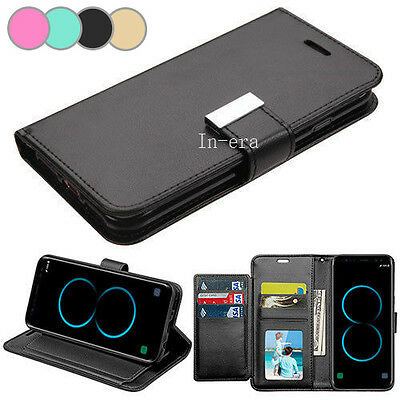 Strap Leather Flip Wallet Protective Case Cover For Samsung Galaxy S8  S8 Plus