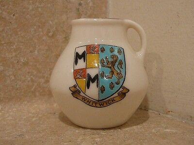 WH GOSS CRESTED CHINA WHITWICK OLD JUG PITCHER NORTH DORCHESTER GOSHAWK STAMP