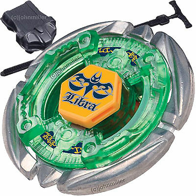 Flame Libra T125 Metal Fusion 4D Beyblade STARTER SET w Launcher - Ripcord