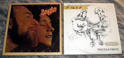 ARLO GUTHRIE - PETE SEEGER - LOT OF 2 DOUBLE LIVE LPS