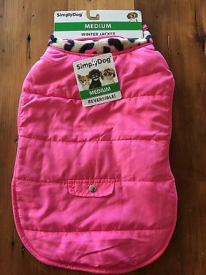 New With Tags SimplyDog Dog Clothes Pink  Jacket Coat Medium