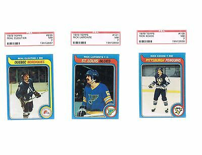 1979 Topps Hockey 3 Card PSA 7 Lot