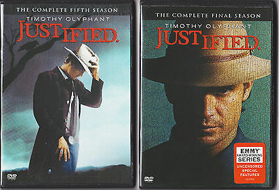 JUSTIFIED SEASON 5 - 6 DVD TV SERIES  23 DISC SETS XTRA FEATURES-