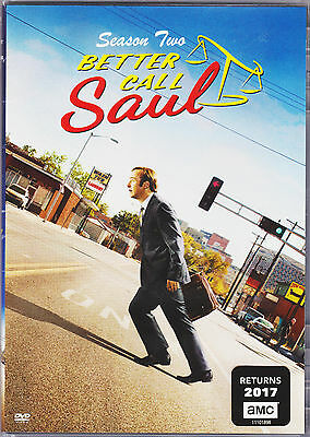 BETTER CALL SAUL SEASON 2 DVD TV SERIES NEW - SPECIAL FEATURES REGION 1 USA-