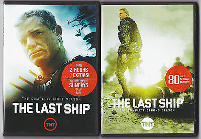 THE LAST SHIP SEASON 1 - 2  DVD TV SERIES 23 DISC SETS NEW LOADED WITH XTRAS-