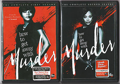 HOW TO GET AWAY WITH MURDER SEASON 1 - 2 DVD TV SERIES NEW-