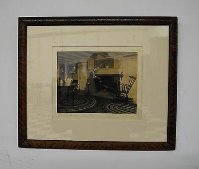 Original WALLACE NUTTING Signed Colored Photo Art Print - Framed - 15 x 12