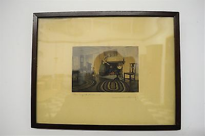 WALLACE NUTTING Original Signed Colored Photo Art Print - Framed - 15 x 12