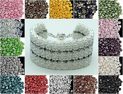 CHOOSE COLOR 50pcs 5mm 2-hole Es-O Beads® Round Czech Glass