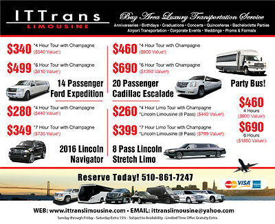Bay Area Limo Deal 50 OFF