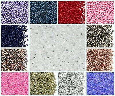 CHOOSE COLOR 20g 80 2-9mm Seed Beads Preciosa Ornela Czech Glass