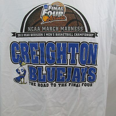 2013 MARCH MADNESS Road to the Final Four Creighton Bluejays NCAA T-Shirt MENS L