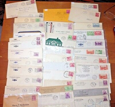 US Covers Lot of Early Commemorative stamps on Cover  B17