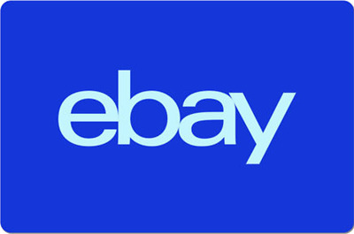 eBay Digital Gift Card - Electric Blue One Card So Many Options  - Emailed