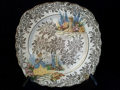 Vintage Colclough Crinolene Lady Bone China Display Plate