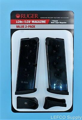 NEW Ruger LC9 LC9s EC9s Magazine wExtension 7-Round RD 9mm Value 2-Pack 90642