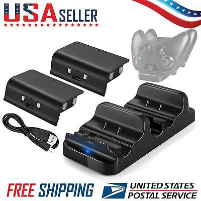 Xbox One Dual Controller Charger Dock Charging Station with Rechargeable Battery