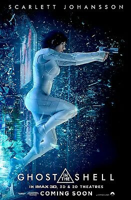 Ghost in the Shell Movie Poster 24x36 - Scarlett Johansson Michael Wincott v2
