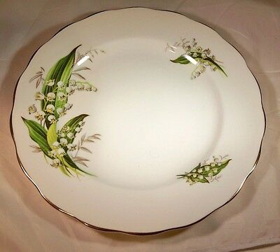 COLCLOUGH ENGLAND LILY of the VALLEY FINE BONE CHINA 8-14 DIAMETER SALAD PLATE