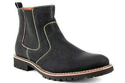 Ferro Aldo Mens 506020 Ankle High Round Toe Chelsea Dress Casual Boots