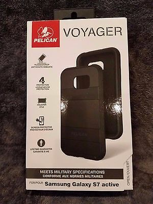 New Authentic Pelican Voyager Case Holster - Samsung Galaxy S7 Active - Black