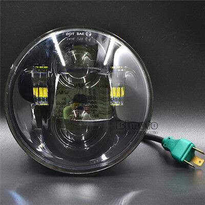 For Harley 5-34 5-75 Motorcycle Projector Daymaker HiLo Beam LED Head Light