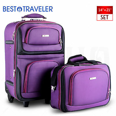 Extensible Luggage Travel Set Lightweight Carry On Trolley Suitcase Tote Bag
