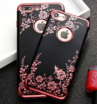 for iPhone 78 - 7-8- PLUS - Soft TPU Rubber Gummy Case Cover Flower Butterfly