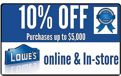 Two2x Lowes 10 Off Coupon Promotion Online Only Exp 930 - FAST Delvry