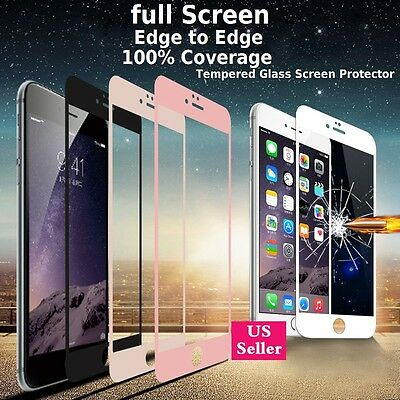 3D Full Coverage Tempered Glass Screen Protector Cover For iPhone 6 6S 7 - Plus