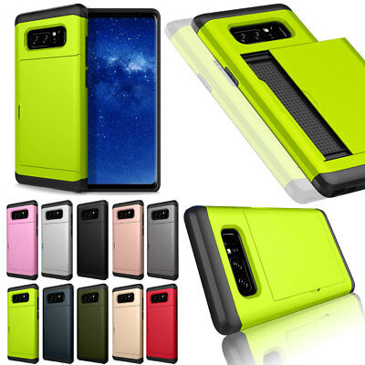 Credit Card Holder Shockproof Phone Case Cover For Samsung Galaxy Note 8 5 4
