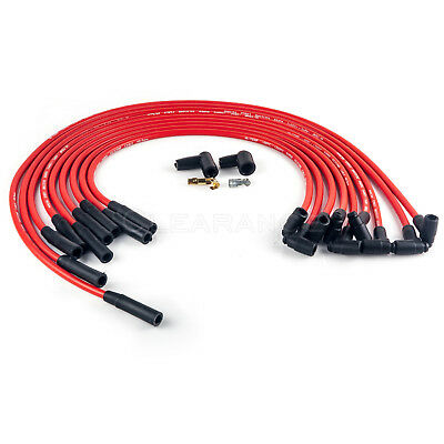 8mm 9875M BBC Big Block Chevy 454 Spark Plug Wires HEI STR Over Valve Cover